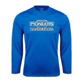 Syntrel Performance Royal Longsleeve Shirt-Pioneers Basketball