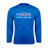 Syntrel Performance Royal Longsleeve Shirt-Mens Soccer
