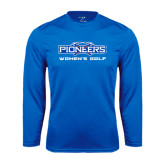Syntrel Performance Royal Longsleeve Shirt-Womens Golf