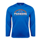 Syntrel Performance Royal Longsleeve Shirt-Football Design