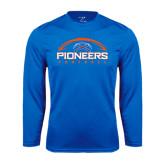 Performance Royal Longsleeve Shirt-Football Design