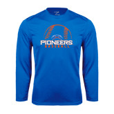 Syntrel Performance Royal Longsleeve Shirt-Baseball Design