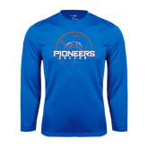 Syntrel Performance Royal Longsleeve Shirt-Soccer Ball Design