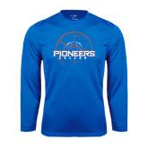 Performance Royal Longsleeve Shirt-Soccer Ball Design