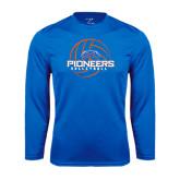 Performance Royal Longsleeve Shirt-Volleyball Design