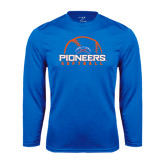 Performance Royal Longsleeve Shirt-Softball Design
