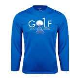 Syntrel Performance Royal Longsleeve Shirt-Stacked Golf Design