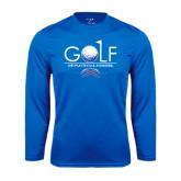 Performance Royal Longsleeve Shirt-Stacked Golf Design