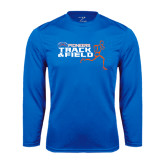 Syntrel Performance Royal Longsleeve Shirt-Track and Field Runner Design