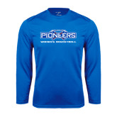 Syntrel Performance Royal Longsleeve Shirt-Womens Basketball