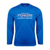 Performance Royal Longsleeve Shirt-Womens Soccer