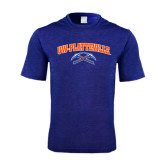 Performance Royal Heather Contender Tee-Arched UW-Platteville