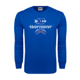 Royal Long Sleeve T Shirt-Stacked Cross Country Design