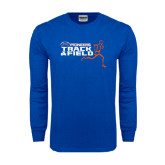 Royal Long Sleeve T Shirt-Track and Field Runner Design