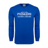 Royal Long Sleeve T Shirt-Womens Soccer