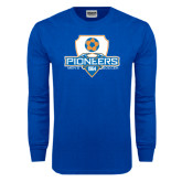 Royal Long Sleeve T Shirt-Mens Soccer Shield