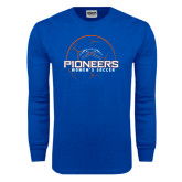 Royal Long Sleeve T Shirt-Womens Soccer Ball Design