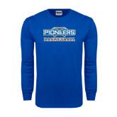 Royal Long Sleeve T Shirt-Pioneers Basketball