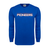 Royal Long Sleeve T Shirt-Wordmark