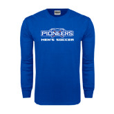 Royal Long Sleeve T Shirt-Mens Soccer