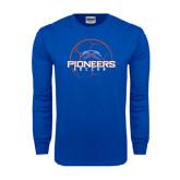 Royal Long Sleeve T Shirt-Soccer Ball Design