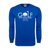 Royal Long Sleeve T Shirt-Stacked Golf Design