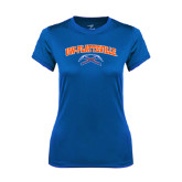 Ladies Syntrel Performance Royal Tee-Arched UW-Platteville