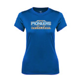 Ladies Syntrel Performance Royal Tee-Pioneers Basketball