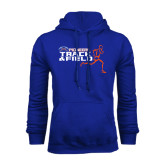 Royal Fleece Hoodie-Track and Field Runner Design