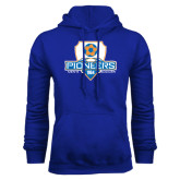 Royal Fleece Hoodie-Mens Soccer Shield