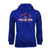 Royal Fleece Hoodie-Softball Design