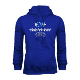 Royal Fleece Hoodie-Stacked Cross Country Design