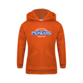 Youth Orange Fleece Hoodie-Pioneers Wrestling