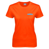 Ladies Orange T Shirt-Official Logo