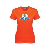 Ladies Orange T Shirt-Mens Soccer Shield