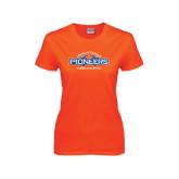 Ladies Orange T Shirt-Cheer and Stunt