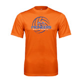 Performance Orange Tee-Volleyball Design
