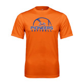 Performance Orange Tee-Softball Design