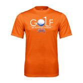 Performance Orange Tee-Stacked Golf Design