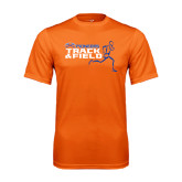 Performance Orange Tee-Track and Field Runner Design