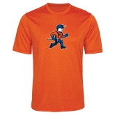 Performance Orange Heather Contender Tee-Mascot