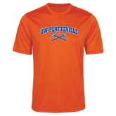 Performance Orange Heather Contender Tee-Arched UW-Platteville