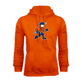 Orange Fleece Hoodie-Mascot