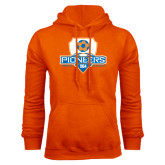 Orange Fleece Hoodie-Mens Soccer Shield