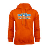 Orange Fleece Hoodie-Pioneers Basketball