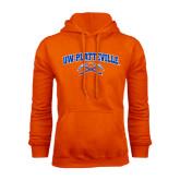 Orange Fleece Hoodie-Arched UW-Platteville
