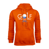 Orange Fleece Hoodie-Stacked Golf Design