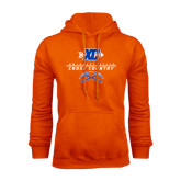 Orange Fleece Hoodie-Stacked Cross Country Design