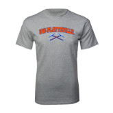 Grey T Shirt-Arched UW-Platteville