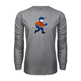 Grey Long Sleeve T Shirt-Mascot